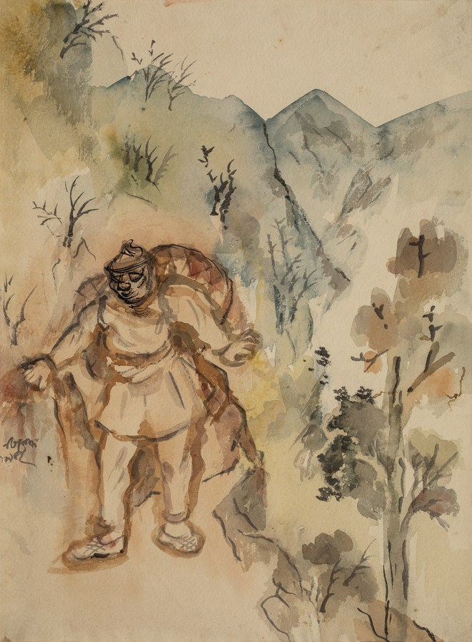"Mussoorie Cooli | Watercolour on paper | 15"" x 11"" 