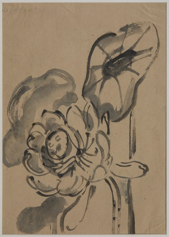 "Lotus | Chinese ink on paper | 11"" x 8"" 