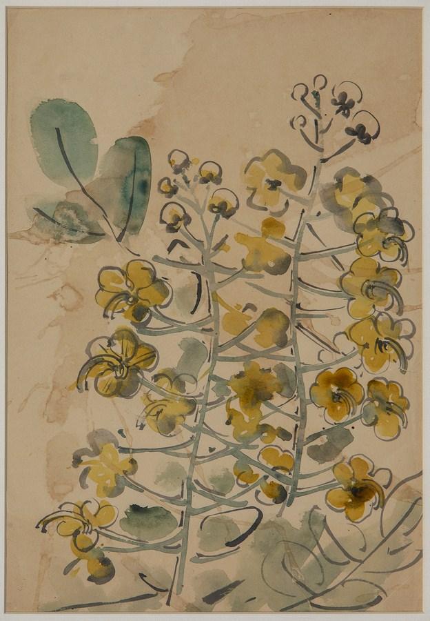 "Amaltas | Watercolour on paper | 13.5"" x 9.5"" | 1945"