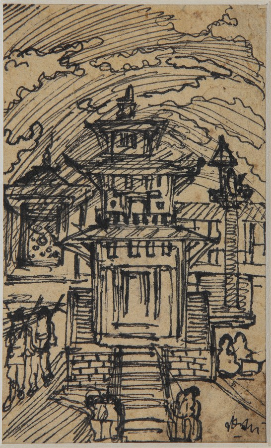 "Bharatpur, Nepal | Pen and ink on paper | 5.5"" x 3.5"" 