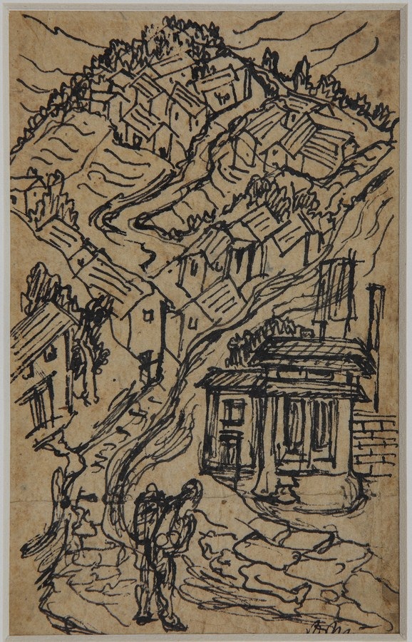 "Nepal | Pen and ink on paper | 5.5"" x 3.5"" 