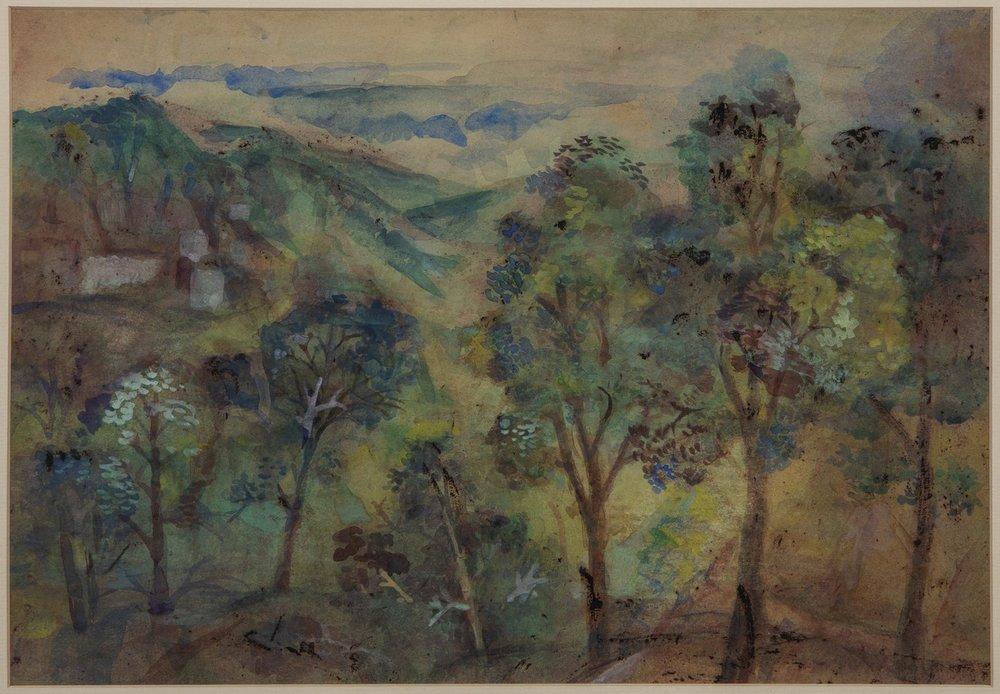 "Mussoorie | Tempera on paper  | 11"" x 16"" | 1952"