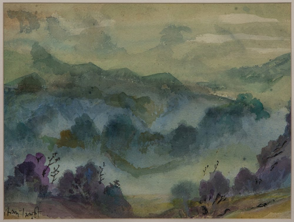 "Mussoorie | Watercolour on paper | 10.5"" x 14.5"" 