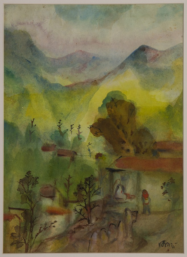"Mussoorie | Watercolour on paper | 14.5"" x 10.5"" 