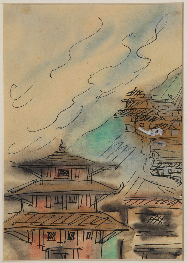 "Nepal | Watercolour, pen and ink on paper | 7"" x 5"" 