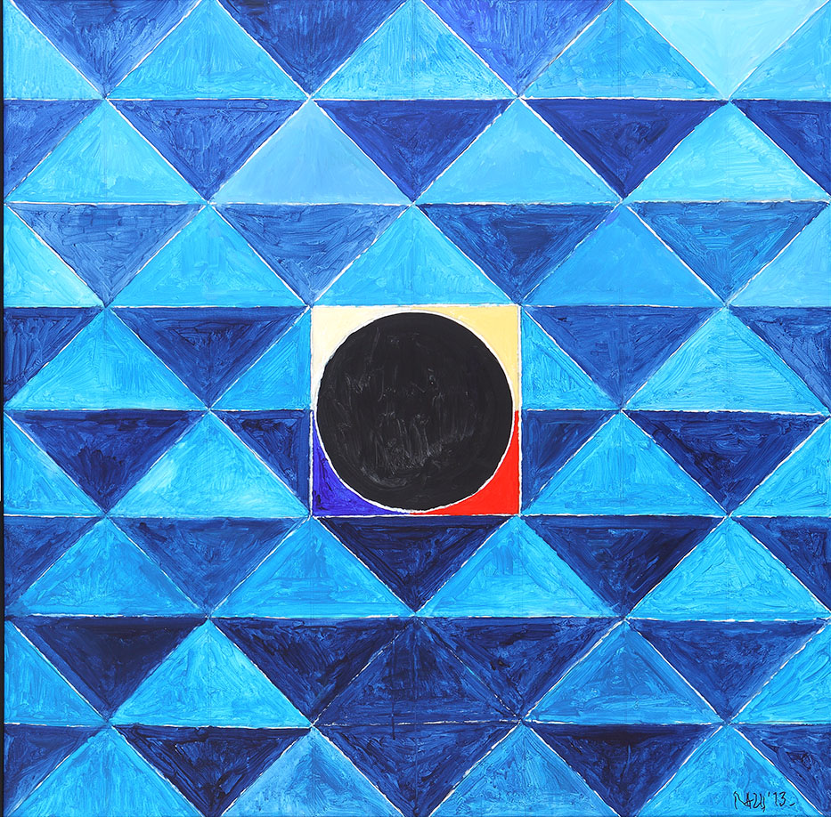 "S.H. Raza | Jeevan Satva | Acrylic on canvas | 47"" x 47"" 