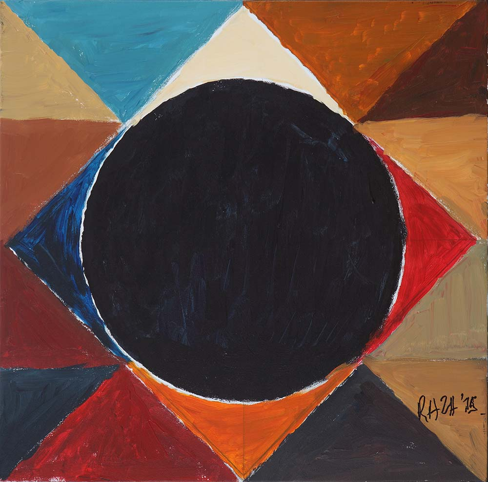 "S.H. Raza | Cosmic | Acrylic on canvas | 16"" x 16"" 