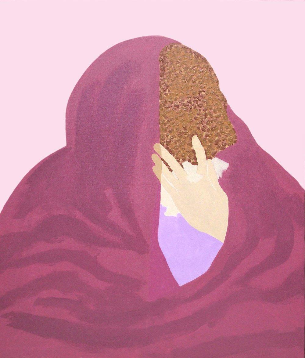 "Gieve Patel | Mourners - III | Acrylic on canvas | 36"" x 31"" | 2005"
