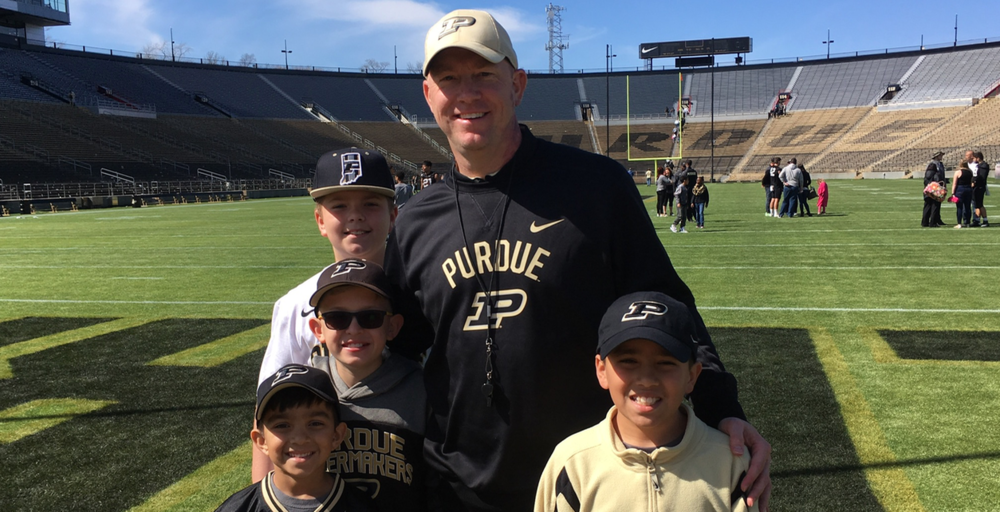 Brohm and a few young Boilermakers after the BG Game