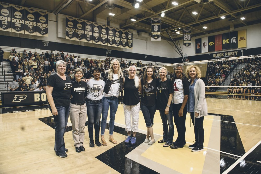 Saturday was Alumnae Night; I was fortunate to sit next to an alumna Friday. As you might expect, she was quite knowledgeable; it was interesting to hear stories about the pre-NCAA days, as well as to hear her take on the Boilers' play.