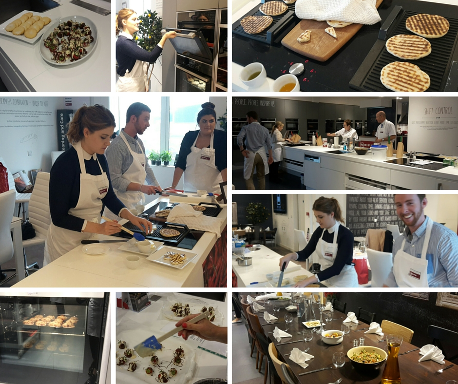 Our team had a very informative and delicious day at the Neff training HQ.  Everything from steamed vegetables to flat breads and strawberries dipped in chocolate.  Find delicious recipes and tips @bakeityourself