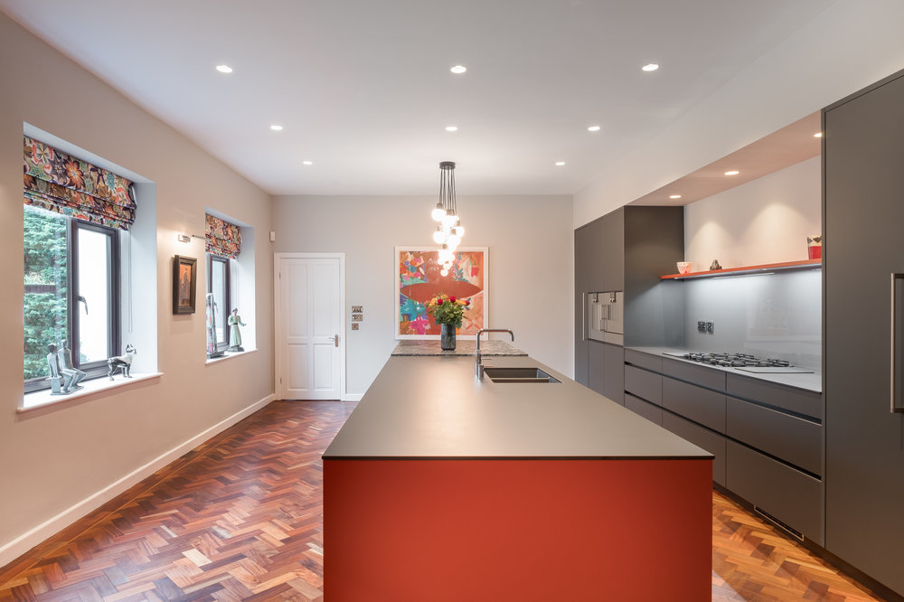 Cayenne and carbon grey kitchen 3