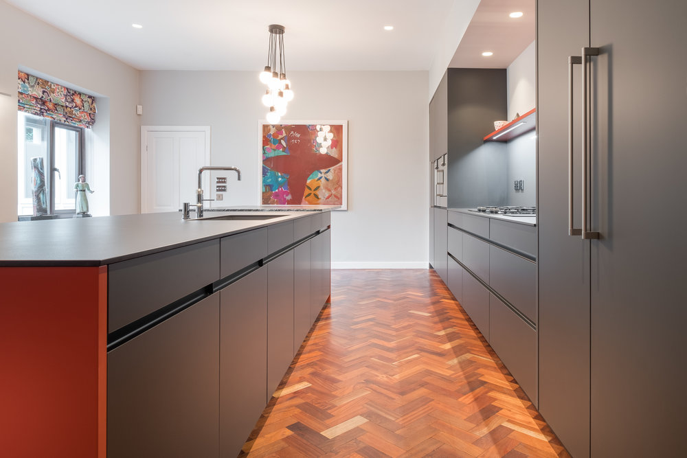 Cayenne and carbon grey kitchen 4