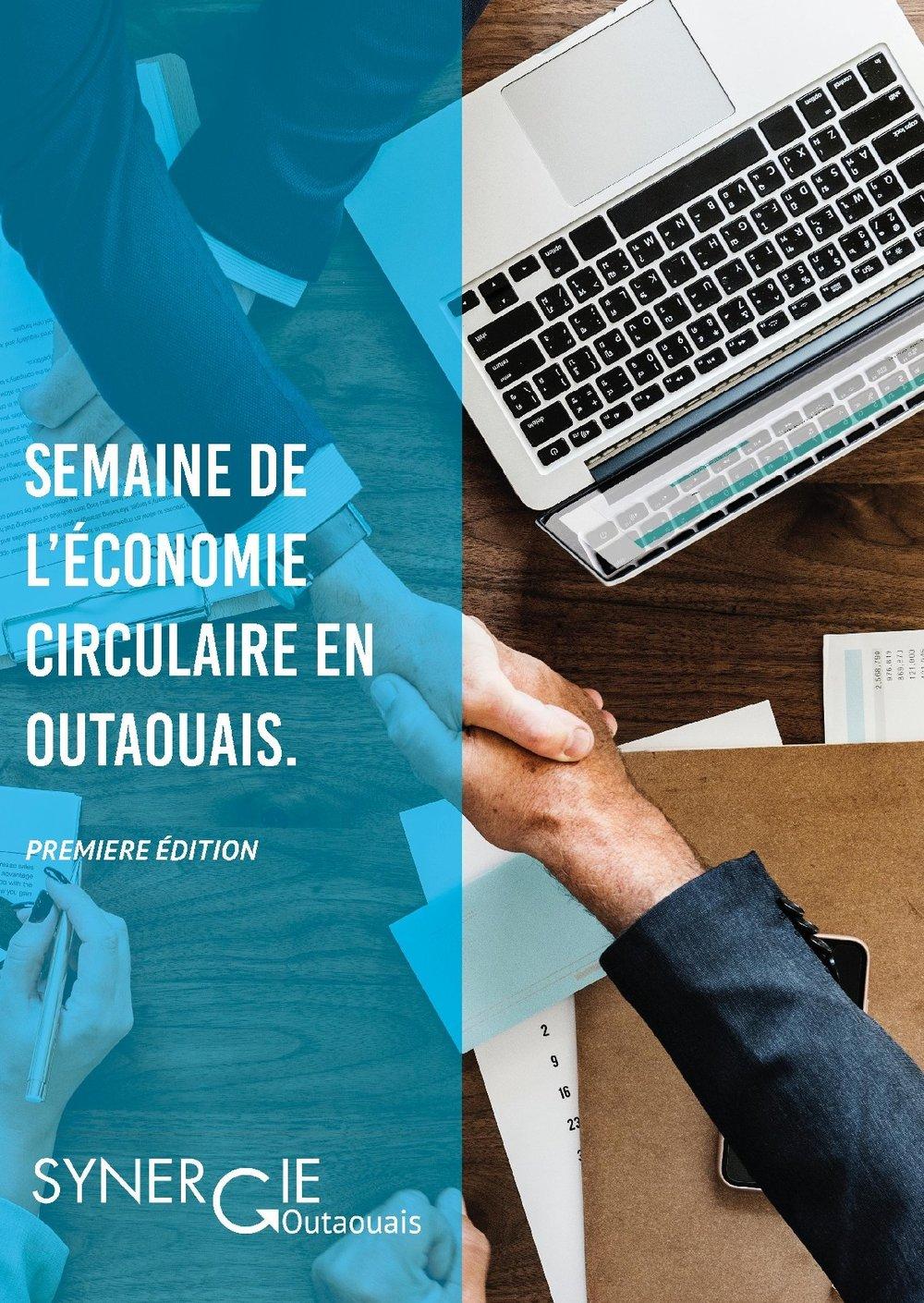 - Nous avons lancé la toute première Semaine de l'économie circulaire en Outaouais le 2 octobre 2017 aux bureaux du Groupe Nordik lors de notre 5@7 Les Rendez-Vous Synergiques.Vous pouvez retrouver l'horaire complet des activités de la semaine iciPour l'occasion nous avons eu l'honneur de compter sur la présence de M. Maxime Pedneaud-Jobin (maire de Gatineau), M. Dany Michaud (PDG de Recyc-Québec), Mme Maryse Gaudreault (députée de Hull), Mme Mélissa Begeron (directrice générale de la SADC Papineau) et M. Jean-Claude Des Rosiers (président de la Chambre de Commerce de Gatineau), sans oublier la présence de M. Michel Smith (directeur de Tricentris à Gatineau), notre ambassadeur passionné! Deux de nos entreprises partenaires ont également témoigné de leurs efforts en développement durable et en économie circulaire : le Spa Nordik et Les Brasseurs du Temps. Merci à vous tous!