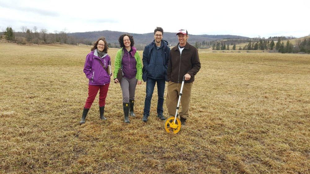 Christelle Guibert (CREDDO), Nathalie Magnan (CREDDO), David Rivest (UQO), Ian McLatchy (Rupert Hill) et Alexandre Boily (Biomasse Évolution)