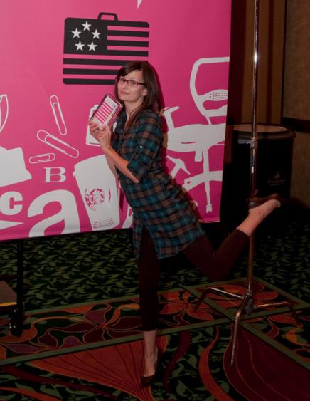Manda and her award at DSVC 2009
