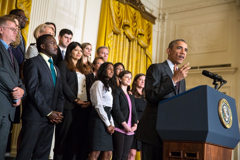 President Obama speaks at the first-ever White House Demo Day, August 4, 2015. (Photo Credit: White House)