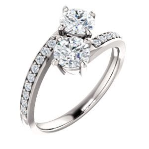 NOW IN STOCK! Diamond Duo Ring For Your one true love-Your Best friend...