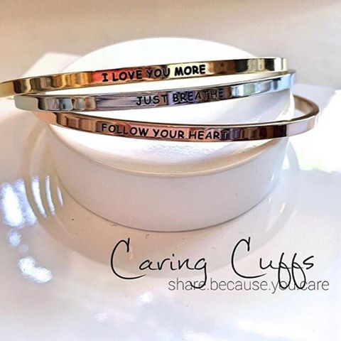 New Caring Cuffs just arrived! #caringcuffs #stackbracelets #giftideas