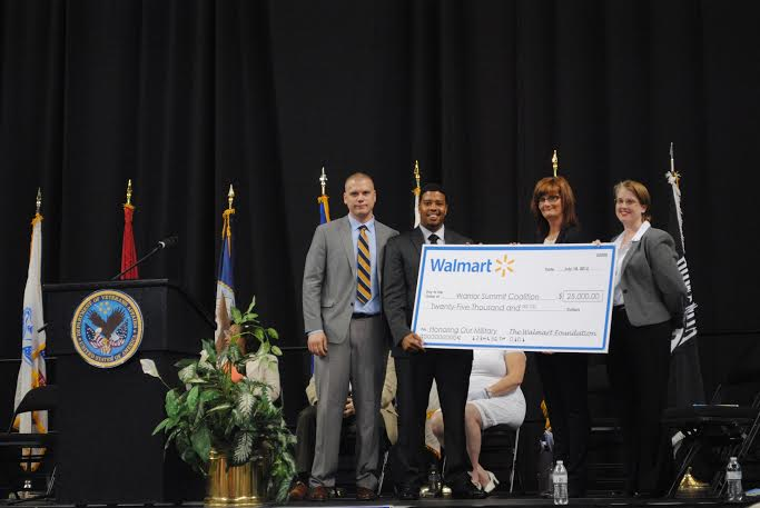 CEO and Co-Founder of Warrior Summit Coalition James J. Flagg and PR Director Jason Memmen receive grant from Walmart.