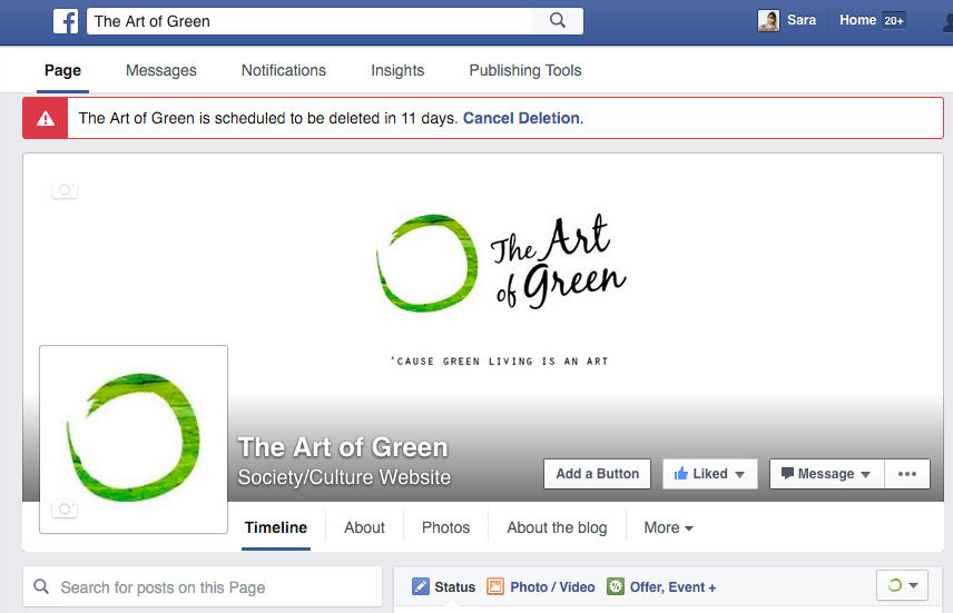 cancellare-pagina-facebook-delete-digital-marketing-artofgree-lifestyle-entrepreneur