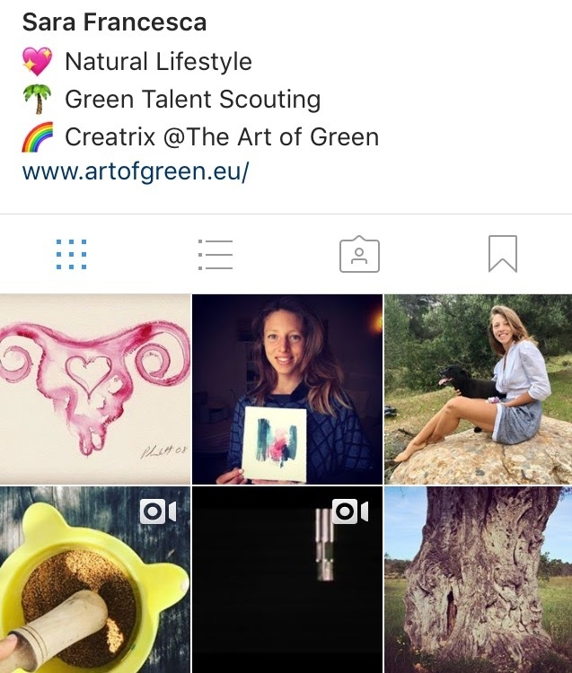 Connect on Instagram - @artofgreenSara FrancescaNatural Lifestyle Design & CoachingHealth, Food, MovNat, Wellbeing🌻 hello@artofgreen.eu🌺 Europe, IbizaFREE Live Tidbits to • Connect to Nature •