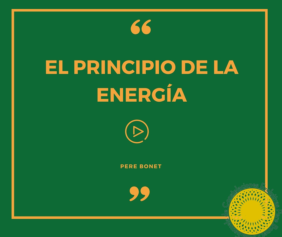 el principio de la energía