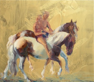 """APPLEBY RIDERS"" (12 x 12 oil)"