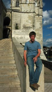 Here is my son Chris at Amboise castle being a gargoyle