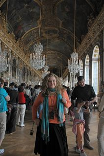 Here is Ashley, my second daughter at Versailles...