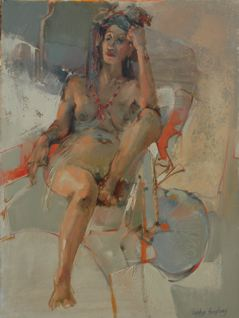 VINTAGE 2009 oil 28 x 22 by Lesley Humphrey