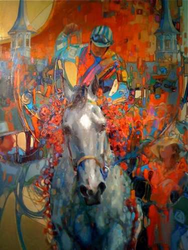 VICTORY 24 x 18 oil on panel. Official Art, Kentucky Derby 137. (Collection Mr. Bob Evans, CEO, Churchill Downs)
