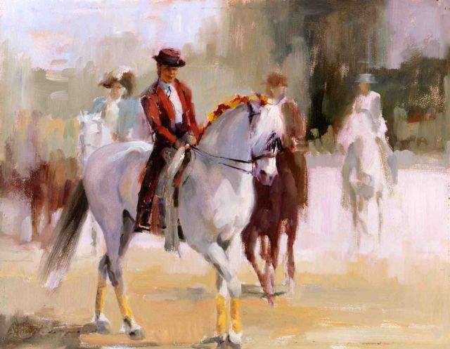 Tentador and Dulce : Before The Parade : Alla Prima Oil by Lesley Humphrey