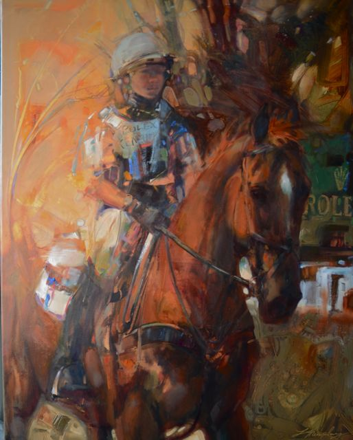 Time To Believe. 30 x 24 oil on canvas. On exhibition with the American Academy of Equine Art Invitational Show, April through May at Spindletop Hall, Lexington, Kentucky