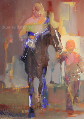 "KEENELAND 16"" x 12"" - oil on panel"