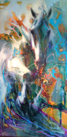 "L'ESPIRIT 48"" x 24"" - oil on gallery-wrapped canvas"