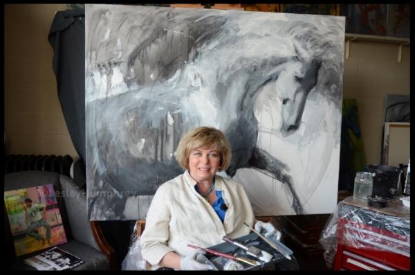 Lesley Humphrey Acrylic Gesso Demo