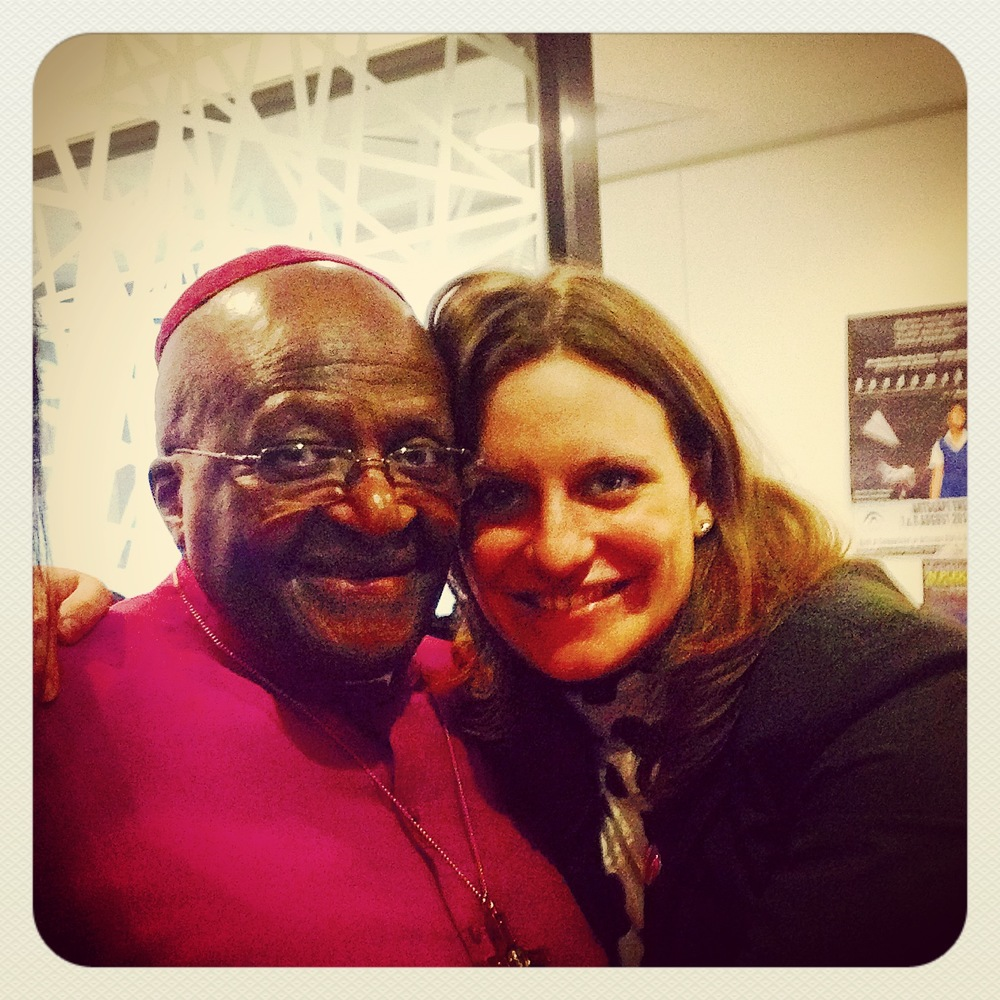 Tamaryn with Archbishop Desmond Tutu