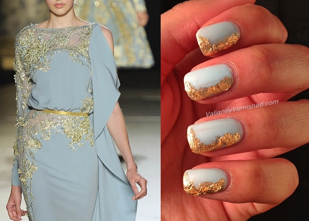 10 Days Of Couture Nail Art Challenge Day 4 Inspired By Elie Saab