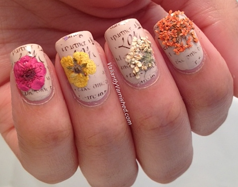 3d Nail Art Week And Born Pretty Store Review Dried Flowers