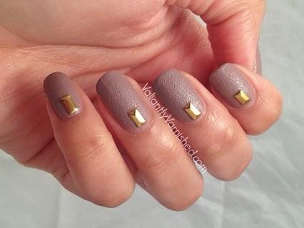 Simple Textured Stud Nail Art With Nails Inc Fleet Street