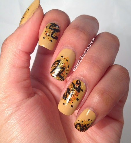 Abstract Flower Nail Art with Butter London Bumster