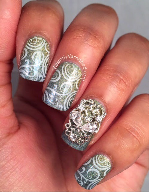 Inspired By Disney Cinderella Nail Art Valiantly Varnished