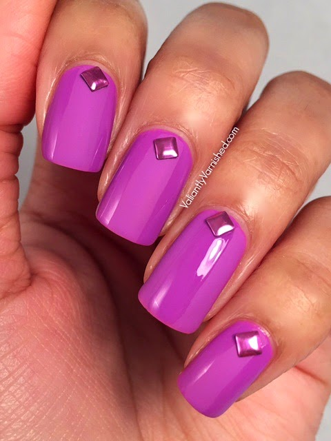 Matte and Glossy Nail Art w/Born Pretty Studs — Valiantly Varnished