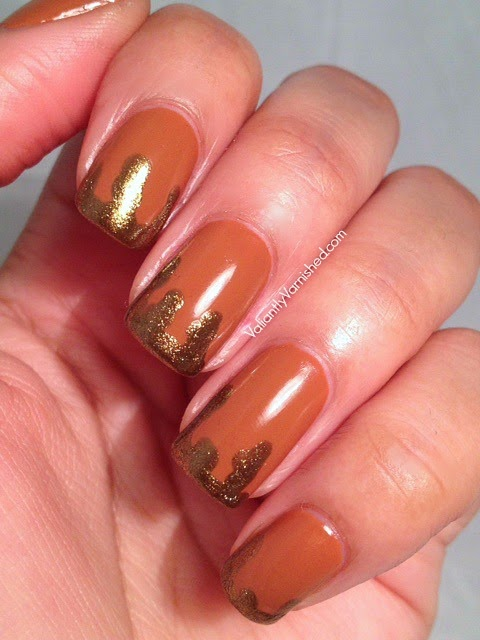 Fall Inspired Drip Nail Art With Opi Apple Pie Valiantly Varnished
