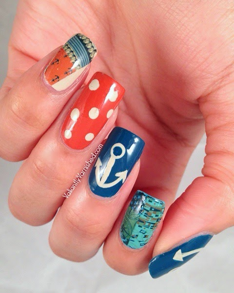 Nautical Nail Art with Born Pretty Store Nail Decals — Valiantly ...
