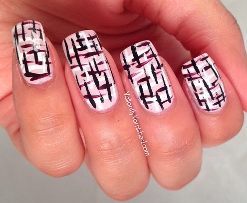 Abstract Tweed Nail Art Tutorial Valiantly Varnished