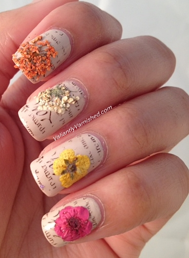 3d nail art week and born pretty store review dried flowers the flowers themselves were a bit unwieldy to handle since they are so delicate i had a bit of shedding with them and had to be extra gentle while applying prinsesfo Choice Image