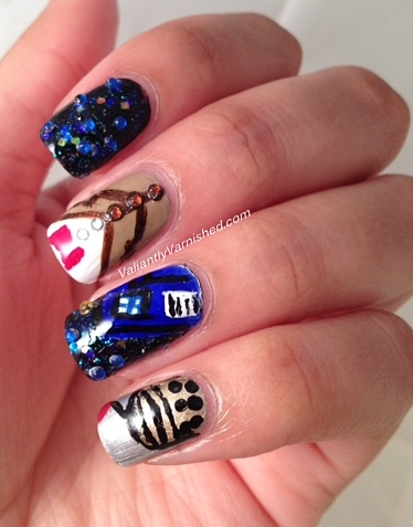3d nail art week and polish days to boldly go doctor who nails im really happy with how these turned out with the exception of the dalek which turned out kind of funky i think this is perhaps due to my intense dislike prinsesfo Gallery
