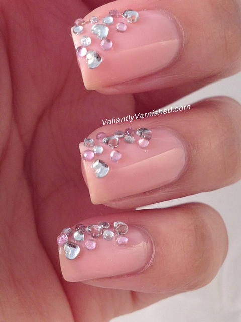 3D Nail Art Week - Rhinestone Cascade — Valiantly Varnished